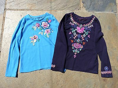 Monsoon Girls Embroidered T-Shirts Age 7-8.