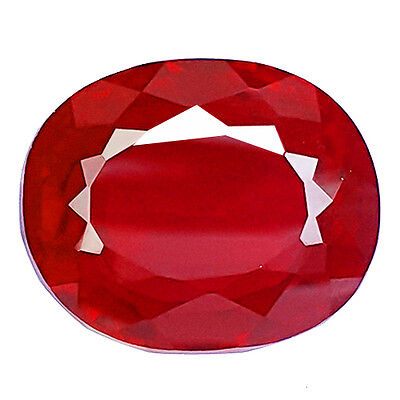 Beautiful 23.70 Ct Oval Shape Blood Red Ruby Lab Created Gemstone
