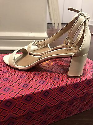 d481c596c TORY BURCH CECILE Ankle Strap patent-leather Mid Heel Sandals ...