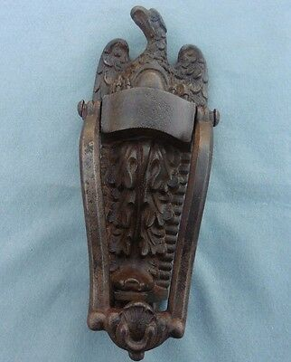 Antique Cast Iron Door Knocker Phoenix / Eagle