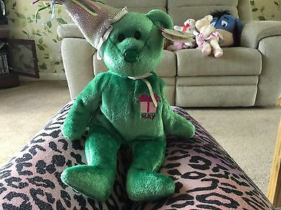 Ty Beanie Babies May Green  Happy Birthday Bear With Tag