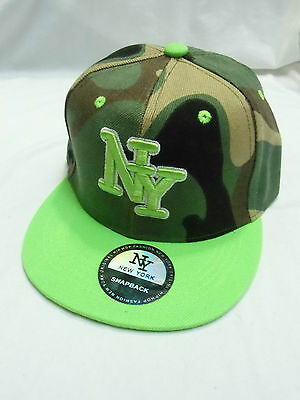 CASQUETTE NY MILITAIRE CAMOUFLé FLUO TAILLE ENFANT 54 NEW YORK