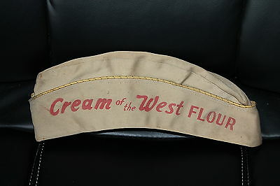 1944 WWII Cream of the West Flour WAC Garrison Cap from Philadelphia Q.M. Depot