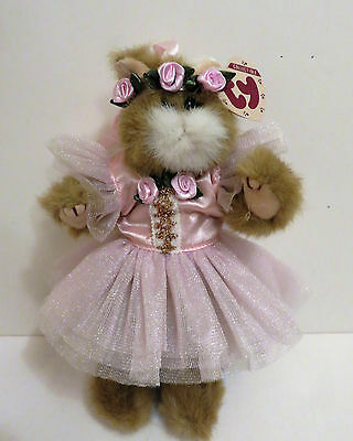 Ty Plush Attic Treasure Cat Pouncer Custom Dressed in Ballet Costume +Doll Stand