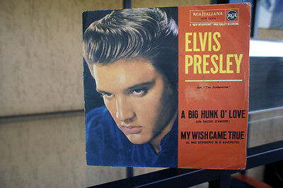 "ELVIS PRESLEY ""A big Hunk O' Love- My Wish Came True RCA 45N 0864 EX-/NM"