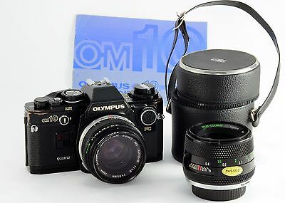 Olympus OM10 35mm Quartz SLR With Zuiko Auto-S 50mm f/1.8  Extra Lens Working