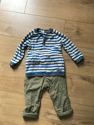 Baby Boy's Jumper and Trousers 9-12 Months