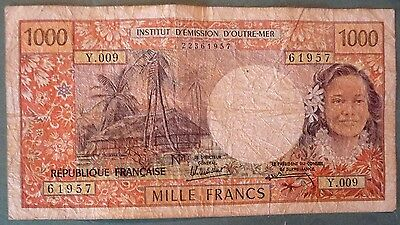 FRENCH PACIFIC TERRITORIES  TAHITI PAPEETE 1000 1 000 FRANCS FROM 1985, P 27 d