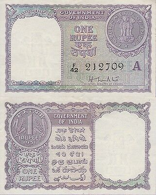 India 1 Rupee Banknote,1951 About Uncirculated Condition Cat#74-B-2709