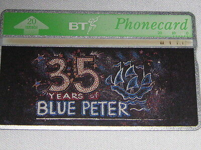 Used 35 Years of Blue Peter BT Phone Card