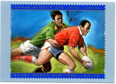 1999 RUGBY WORLD CUP MINT PHQ CARD. ISSUED 01/10/1999. No D15