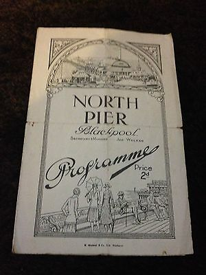 north pier programme 29th september 1929