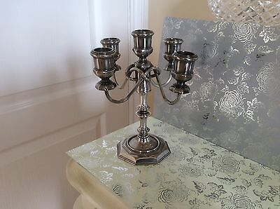 Grenadier 5 Sconce Small Candelabra Silver Plated