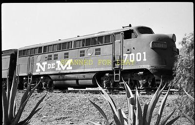NdeM Nacionales De Mexico #7001 ORIGINAL PHOTO NEGATIVE-Railroad