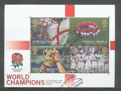 2003 England Rugby World Cup Vf/used Miniature Sheet Ms2416 Cat £14.00