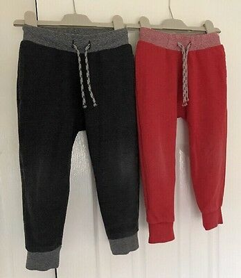 NEXT Boys Grey and Red 2pack Of Joggers Size 2-3years VGC
