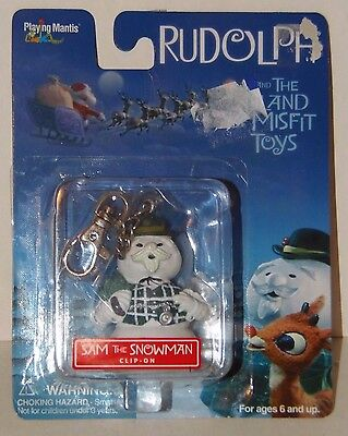 Sam the snowman clip on key chain The Island of the Misfits