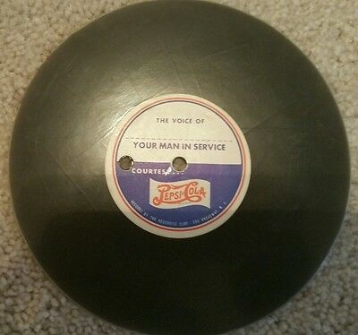 Incredibly Rare Blank WWII Pepsi Cola recording disc