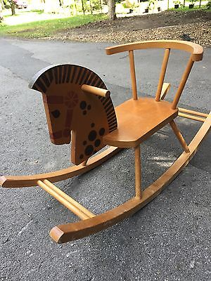 baby wooden rocking chair