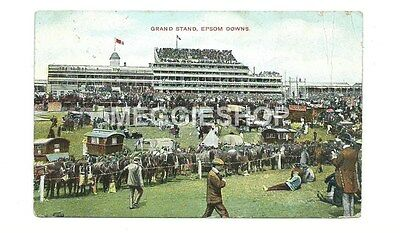 Surrey: Epsom Downs Racecourse Grand Stand 1906 Postcard