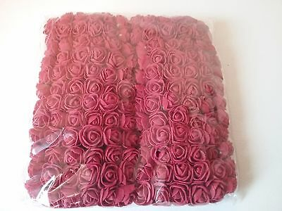 "2 CM  MINI FOAM ROSE FLOWERS  (144 pcs) ""NEW"""