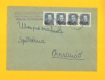 "Poland Polish Peoples Rep. Cover overprinted ""Groszy"""