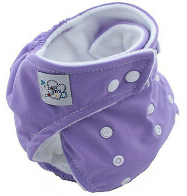 Free Shipping Baby Kids Reusable Washable Cloth Diapers Nappies Diaper Purple