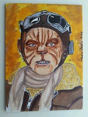 Dr Who (Brannigan) Hand Drawn Colour Sketch Art Trading Card Psc Aceo
