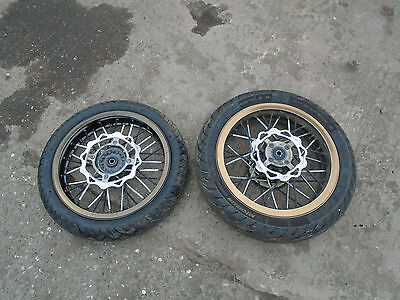 "Genuine 2011 Pulse 125Cc - 17"" Front & Rear Wheels With Tyres - Pair"