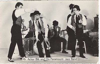 Mr. Acker Bilk and His Paramount Jazz band -  orig postcard-sized photograph