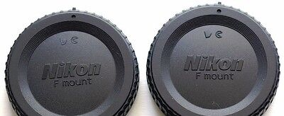 2X Nikon BF-1B BODY CAPS-for SLR/DSLR Cameras. U.S. Seller. Fast ship.100% FB