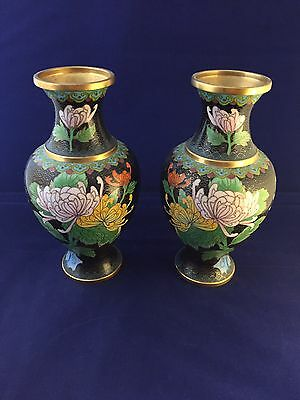 Two Chinese Cloisonne Vases 19th/20th Century