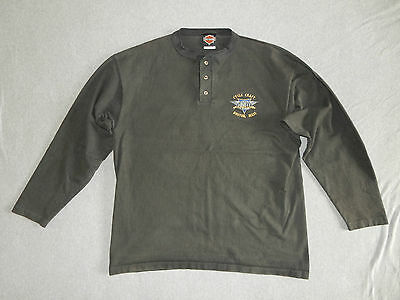 Genuine Harley-Davidson Men's Long Sleeved Boston Dealer Shirt, Black, XL*