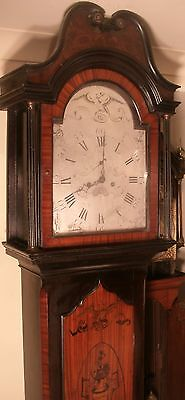 "Antique  Marquetry ( Eye Automation) "" Wells ""  Longcase / Grandfather Clock"