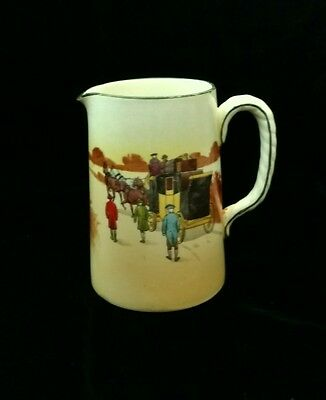 "Antique Royal Doulton Coaching Days 4.5"" Syrup Pitcher"