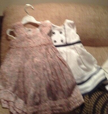 2 Baby Girl Summer Dresses 6-9mths