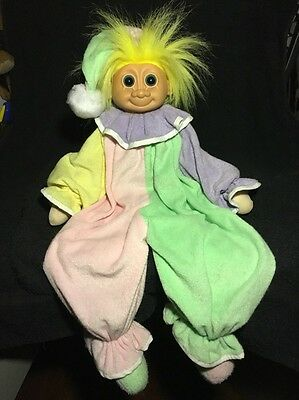 """Russ large vintage clown troll soft bodied doll 19"""" head to toe"""