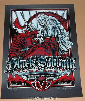 Black Sabbath AJ Masthay Calgary Poster Signed Numbered The End Tour Print AP