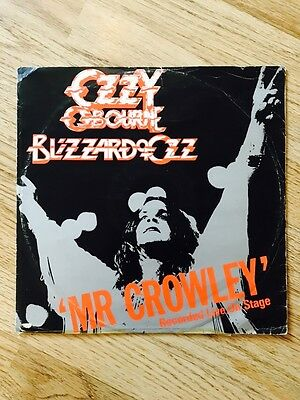 Ozzy Osbourne - Blizzard Of Ozz - Mr Crowley 12 Inch Record Rare 1980