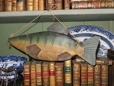 Old French Fishing Shop Tinplate Fish Display Sign.