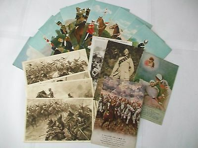 Collection Lot of 16 Old Postcards Military Interest ( ALL SHOWN )