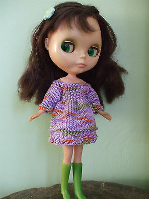 Blythe clothes:dress with free boots. No doll.