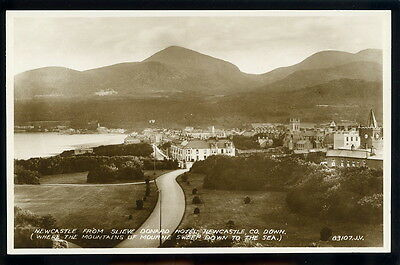 RP Postcard - Newcastle from Slieve Donard Hotel, County Down.