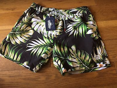 Mens designer swim shorts size M