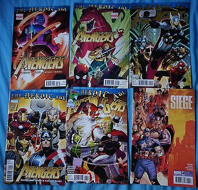 The Avengers / The Heroic Age, Siege / x6 Comics / Joblot
