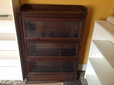 Antique Globe Wernicke Bookcase x3 sections