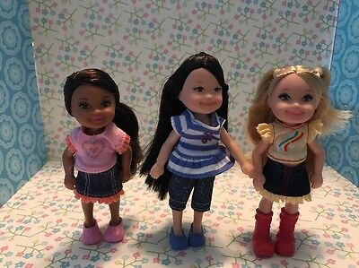 Barbie Kelly Chelsea Friends - Adorable And Mint Condition