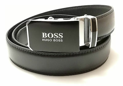 New Price!!! 23.00£  Hugo Boss Mens Belt Automatic Buckle Black Leather