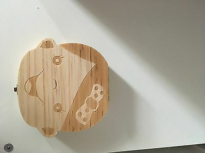 Baby Gift Christening Milk Teeth Wooden Keepsake Box