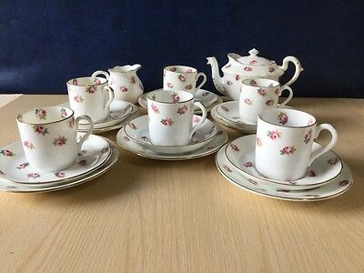 Jackson & Gosling Grosvenor Coffee Tea Set Vintage China Pink Roses